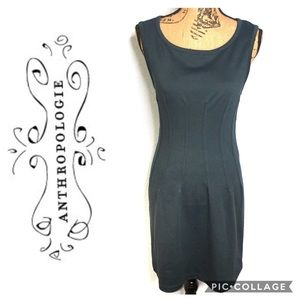 Anthropologie Deletta Curvy Fitted Dress Size S